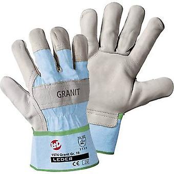 L + D worky Granit 1574 volnerf koeienhuid beschermende handschoen maat (handschoenen): 10, XL EN 388:2016 CAT II 1 paar
