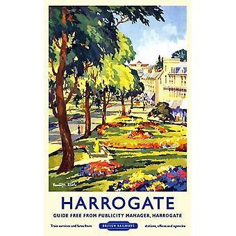 Harrogate (antiguo ferrocarril Ad.) Letrero de metal (400 X 300 Mm)