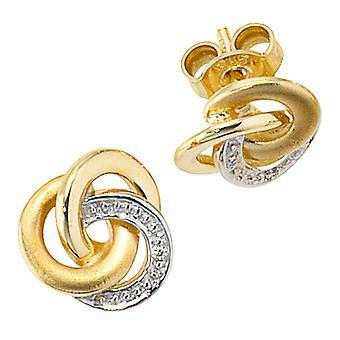 Örhängen-585/g 0, 01 ct. Knut örhängen guldörhängen gold delvis rodium-klädd