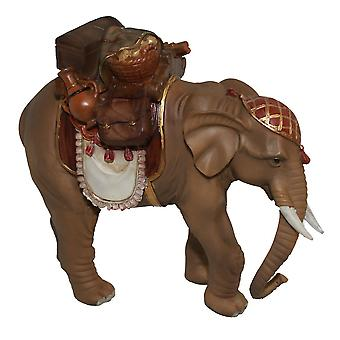 Nativity accessories elephant with filled Saddle bag for Christmas Nativity Manger Nativity