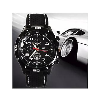 Férfiak analóg sport GT Watch fekete/fehér