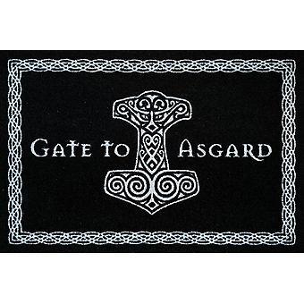 Gate to Asgard Fußmatte schwarz mit rutschfester PVC-R³ckseite