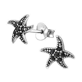 Морская звезда - 925 стерлингового серебра кубического циркония уха шпильки - W30807x