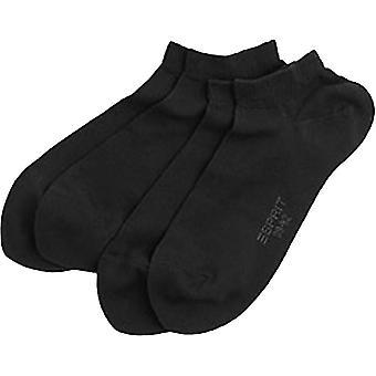 Esprit grundlæggende Sneaker 2 Pack strømper - sort