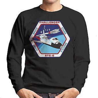 NASA-STS 6 Space Shuttle Challenger Mission Patch Herren Sweatshirt