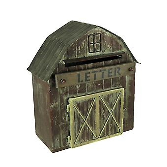 Rustic Metal Barn Decorative Farmhouse Letter Box Wall Hanging