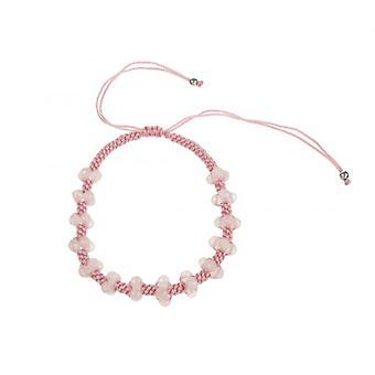 Cavendish French Rose Quartz Beaded Plait Friendship Bracelet