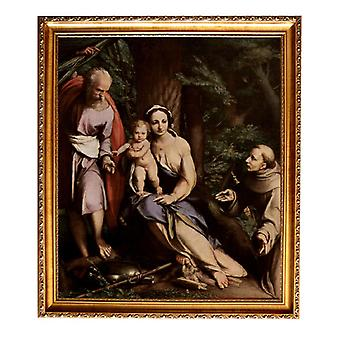 Med ram Rest on the Flight into Egypt with,Correggio,61x51cm