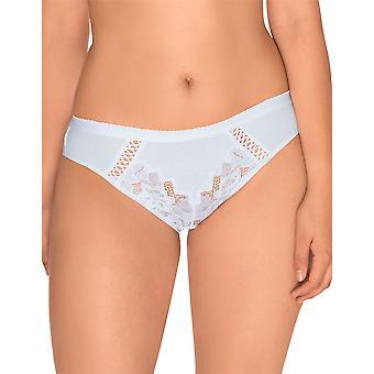 Sans Complexe 604438 kvinners Coton d'Arum hvit nikkers Panty Full kort