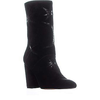 Avec Les Filles Womens Nikita Leather Pointed Toe Mid-Calf Fashion Boots