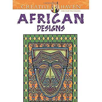 Rifugio creativo disegni africani libro da colorare