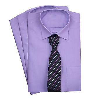 Paggi Lilla classico colletto della camicia con cravatta