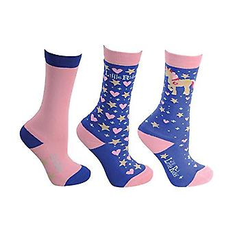 Little Rider Childrens/Girls Star in Show Socks (Pack Of 3)
