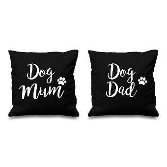 Dog Mum Dog Dad Black Cushion Covers 16