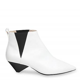 Ash COSMOS Ankle Boots White Leather