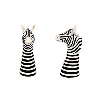 26cm lasitettu Zebra muotoinen maljakko dolomiitti sisustuksessa