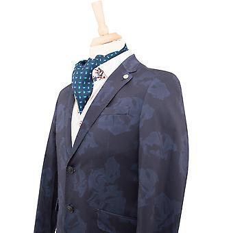 克劳迪奥 · Lugli 丝绸围巾在海军佩斯利