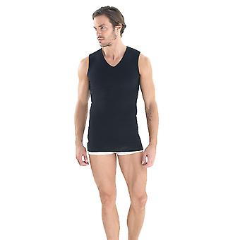 BlackSpade M9208 Men's Body Control Black Tank Vest Top