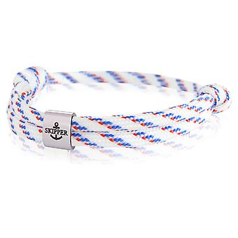 Skipper bransoletka surfer Band węzeł morski bransoleta stal nierdzewna biały/niebieski/czerwony 7986
