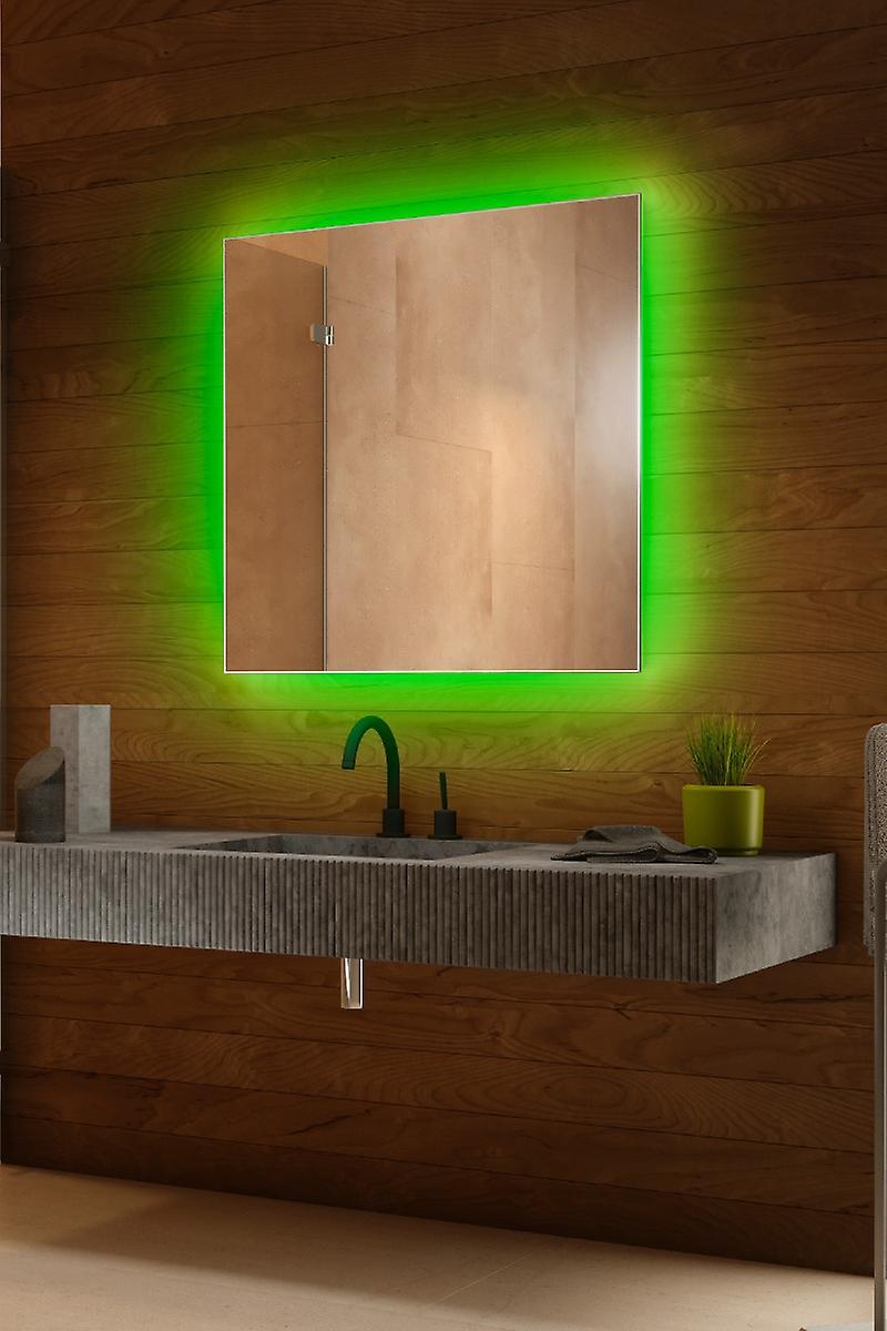Miroir rétroéclairé RVB avec capteur, demister, rasoir k706BLrgb