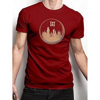 Harry Potter Unisex aikuisten Snowglobe Print T-paita