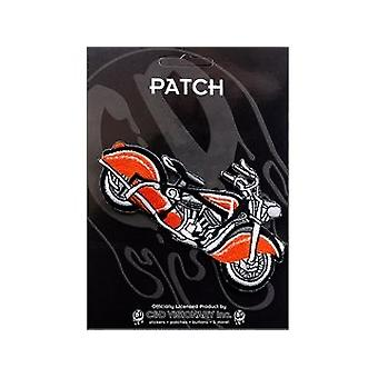 Patch - Automoblies - Vintage Red & Black Bike Iron On Gifts New Licensed p-3855