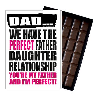 Funny Father's Day Gift From Daughter Chocolate Present Rude Card Dad 136