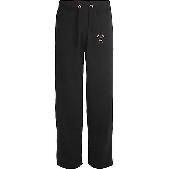 Rainhas Royal Lancers-licenciado British Army bordados abertos hem Sweatpants/jogging Bottoms