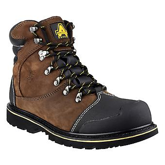Amblers Safety Mens FS227 Goodyear Welted Waterproof Lace Up Industrial Safety Boot Brown