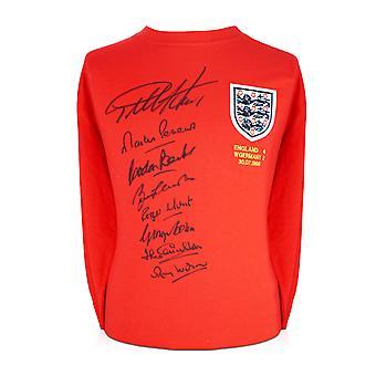 Inglaterra 1966 mundial equipo ganador firmado camisa