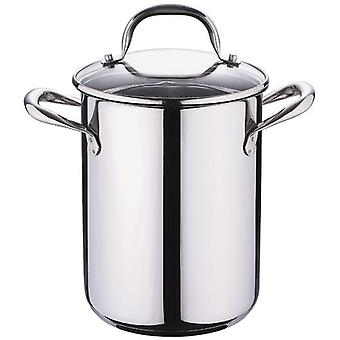 Bergner Draining pan With Lid Gourmet 16X21Cm 4.2L Stainless Steel