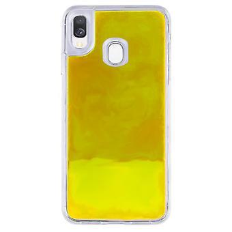 Sag CoolSkin flydende neon TPU til Samsung A20E Yellow