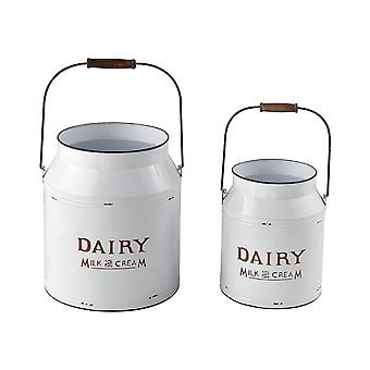Early light set of 2 decorative pails