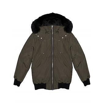 Moose Knuckles Junior Khaki Bomber Parka Jacket