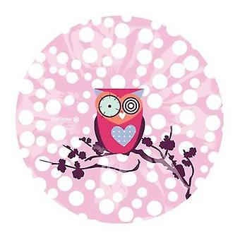 Cute Pink Owl Lightweight Elasticated Shower Cap