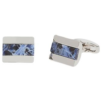 Simon Carter Half Barrel Sodalite Cufflinks - Silver/Blue