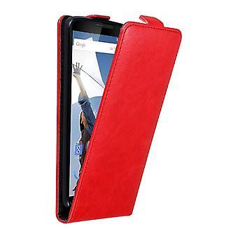 Cadorabo Hülle für Motorola NEXUS 6 Case Cover - Handyhülle im Flip Design mit Magnetverschluss - Case Cover Schutzhülle Etui Tasche Book Klapp Style