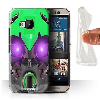 STUFF4 Gel/TPU Case/Cover für HTC One/1 M9/Bumble-Bot grün/Roboter