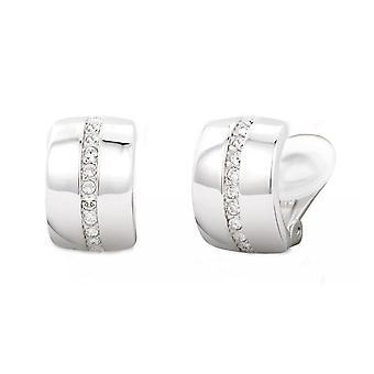 Traveller clip earring - rhodium plated - Swarovski Crystals - 156592
