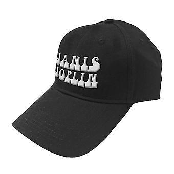 Janis Joplin Baseball Cap White Logo new Official Black Strapback