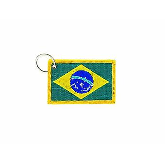 Cle Cles Key Brode Patch Ecusson Badge Flag Bresil Bresilien
