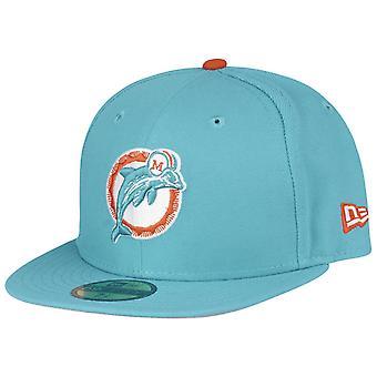 New era 59Fifty Cap - NFL RETRO Miami Dolphins aqua