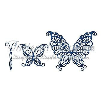 Tattered lace metal CUTTING Die panorama Build a Butterfly Wondrous d656