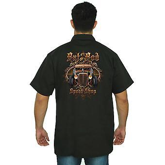 Men's Mechanic Work Shirt Rad Rod Speed Shop