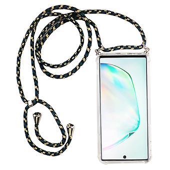 Telefonní řetězec pro Samsung Galaxy Poznámka 10-telefon Smartphone s kapelou-přívodní šňůra s Pouzdrou pro zavěšení v Camouflage