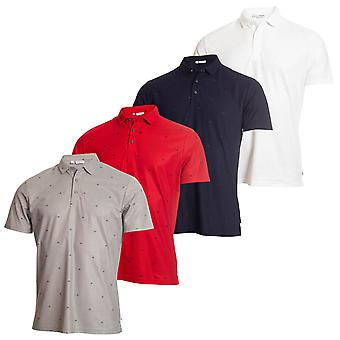 Calvin Klein Golf mens 2019 monogram wicking korte mouw Polo shirt