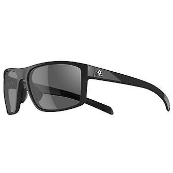 adidas Whipstart Sunglasses - Black Shiny - Grey Lenses