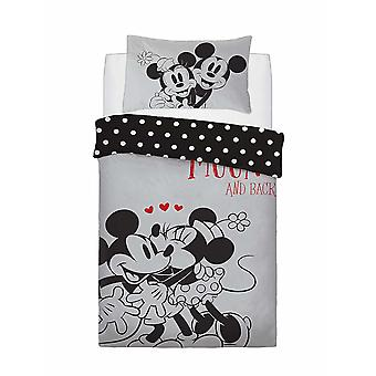 Mickey e Minnie Mouse Love You To The Moon Single Duvet Cover
