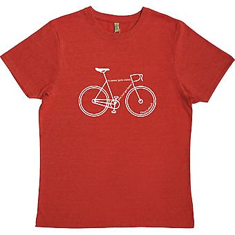 It Never Gets Easier... You Just Get Faster Red 100% Recycled T-Shirt