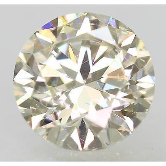 Certified 1.00 Carat I VVS2 Round Brilliant Enhanced Natural Loose Diamond 6.34m